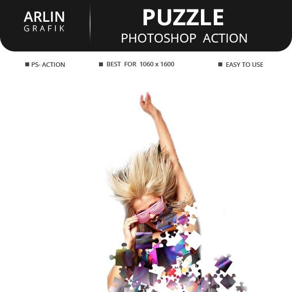 Puzzle Photoshop Action