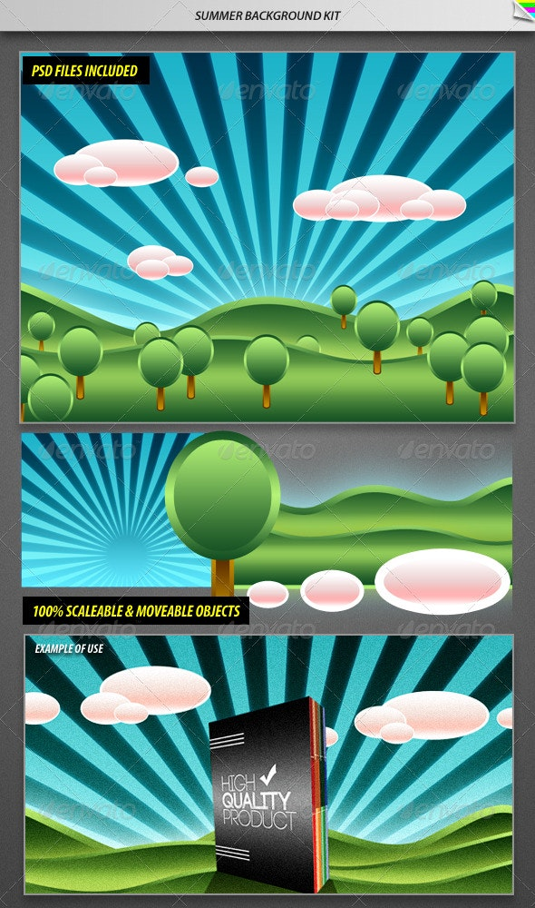 Summer Background Kit - Nature Backgrounds