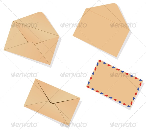 Different envelopes - Objects Vectors