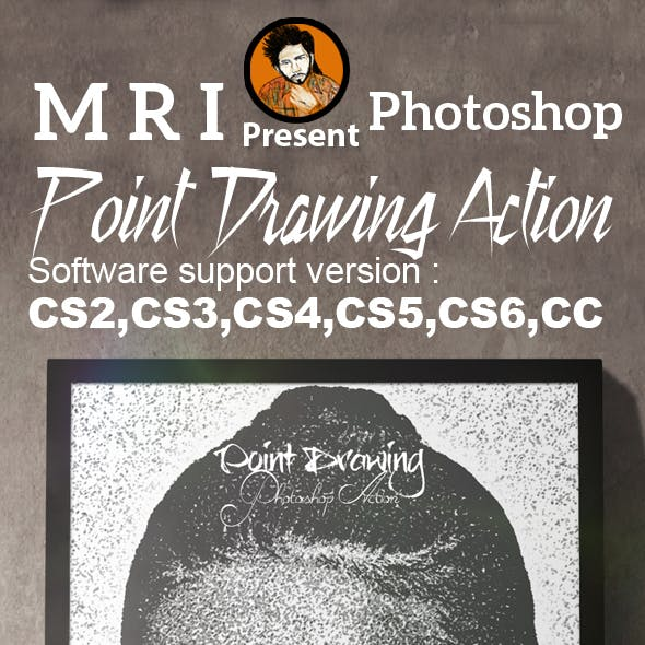 Turning Point Drawing Photoshop Action