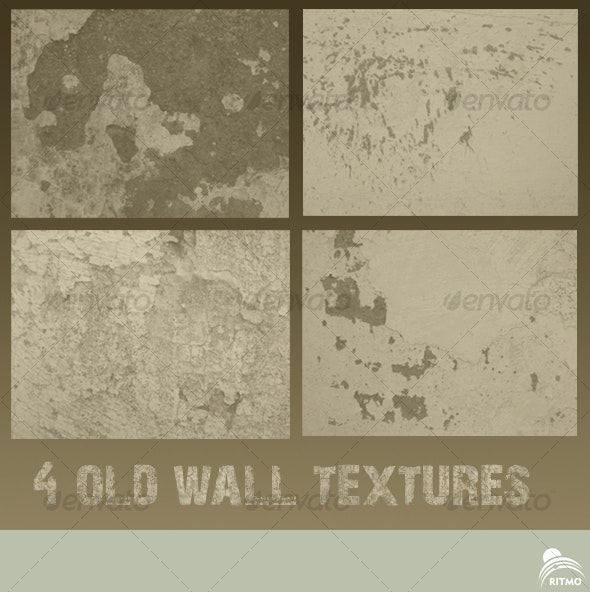 4 Old Wall Textures - Industrial / Grunge Textures