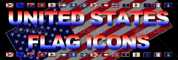 United States Pixel Flag Icons - Miscellaneous Icons