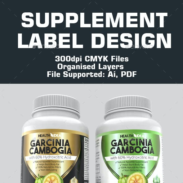 Supplement labels