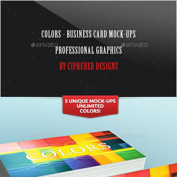 Colors - Business Card Mock-Ups