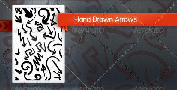 Hand Drawn Arrows - Decorative Vectors