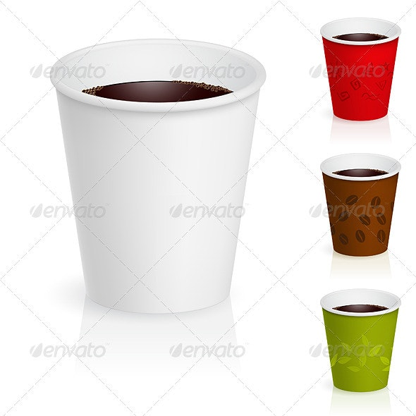 Cups of coffee. - Man-made Objects Objects