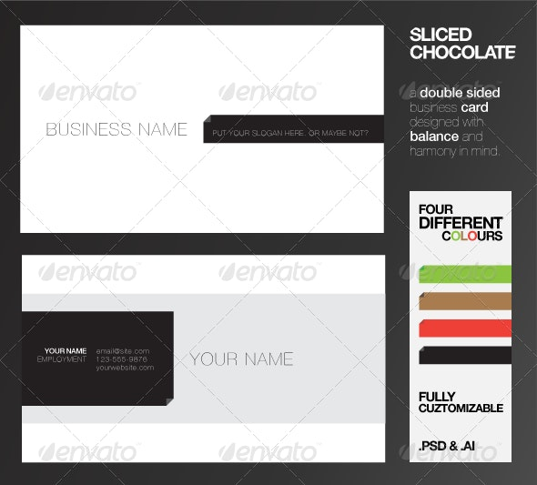 Sliced Chocolate Business Cards - Corporate Business Cards
