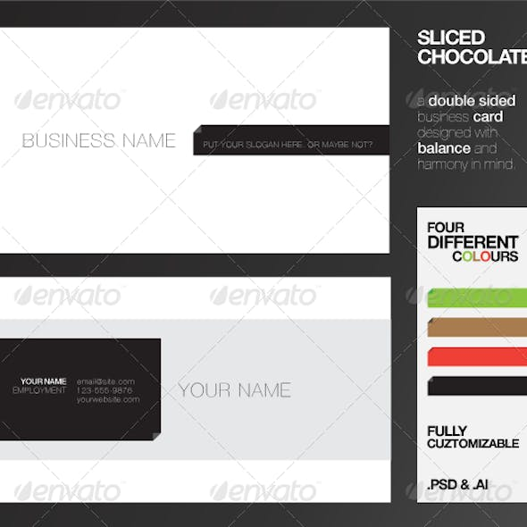 Sliced Chocolate Business Cards