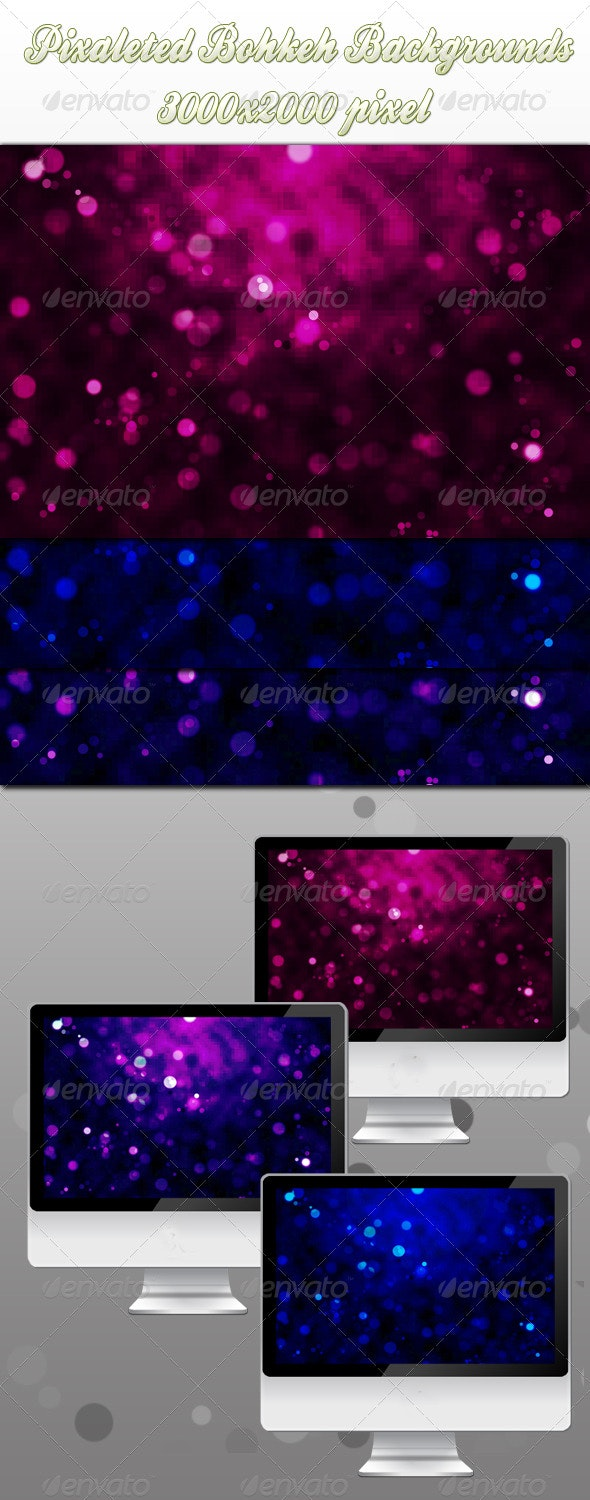 Pixaleted Bokeh Backgrounds - Abstract Backgrounds