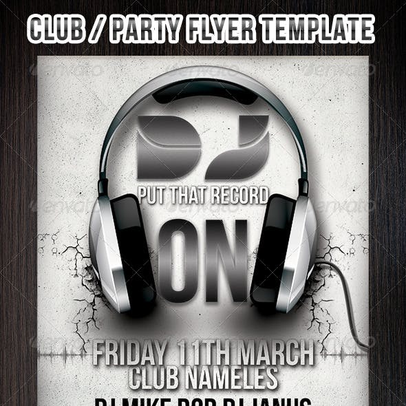 PARTY/CLUB FLYERS AND POSTER TEMPLATE