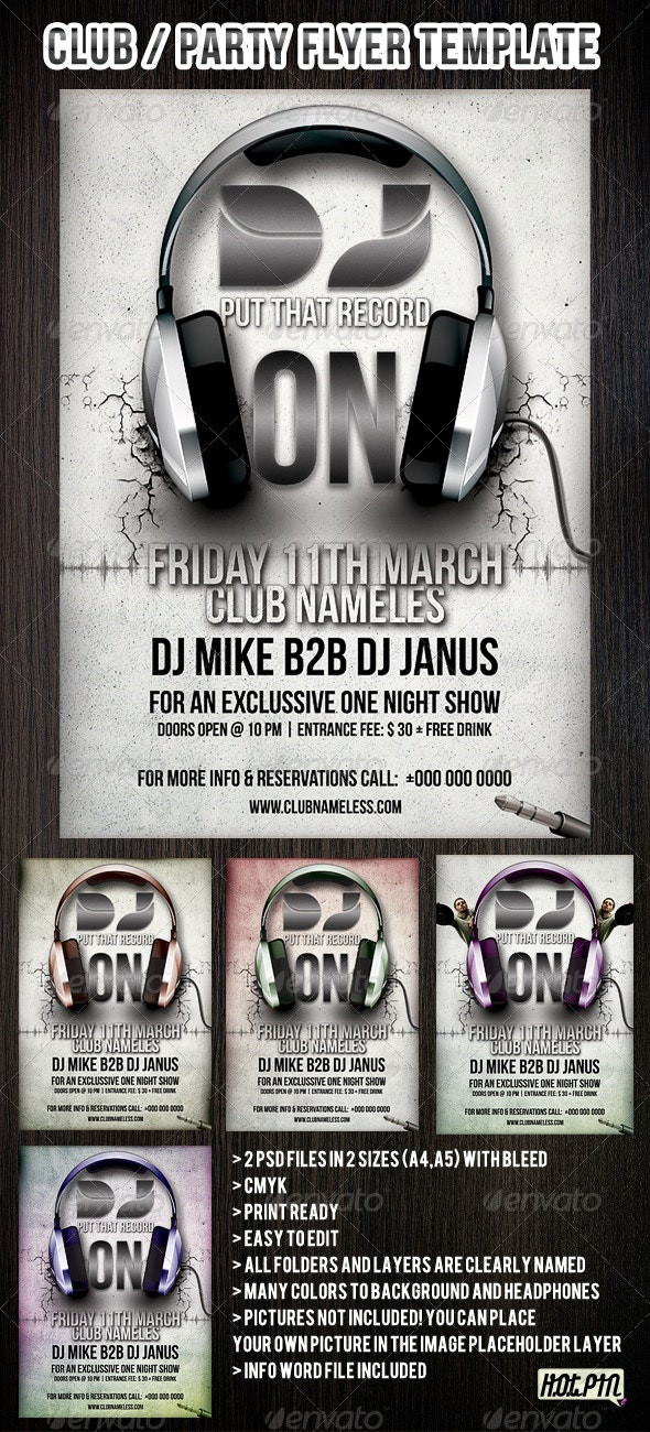 PARTY/CLUB FLYERS AND POSTER TEMPLATE - Clubs & Parties Events
