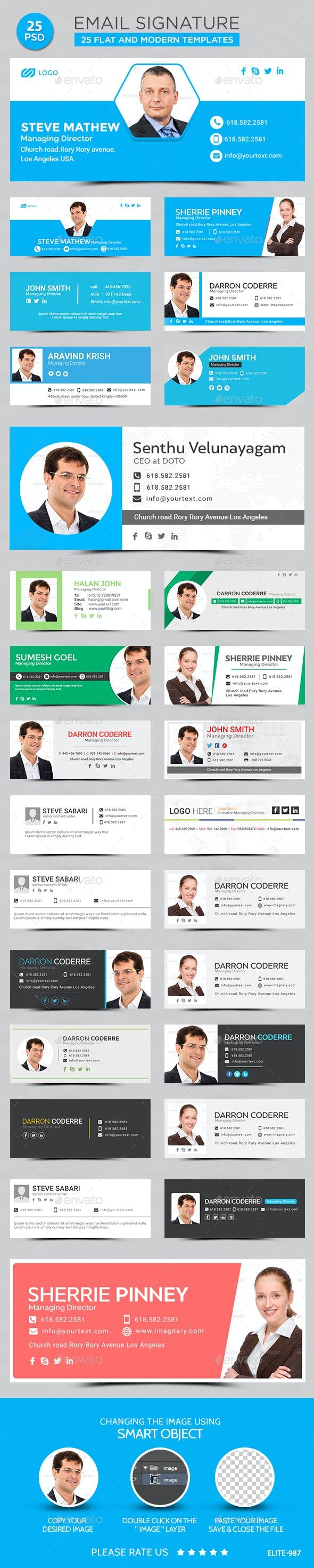 Email Signatures Templates - 25 Designs - Miscellaneous Web Elements