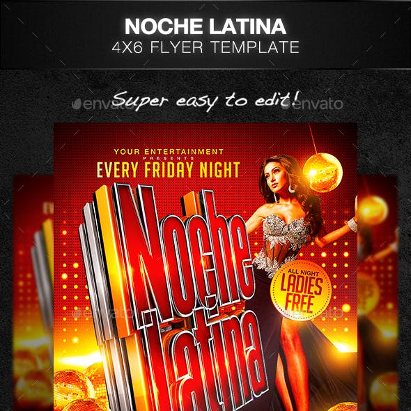 Noche Latina Flyer Template