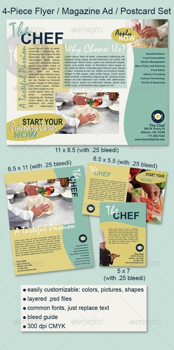 Flyer / Magazine Ad / Postcard Set - Clubs & Parties Events