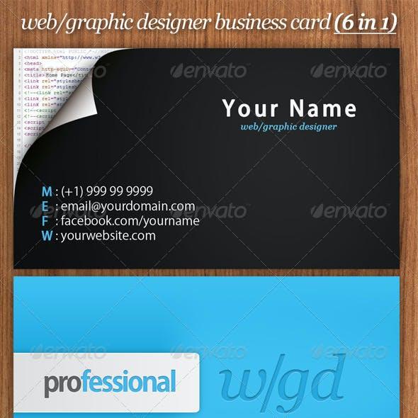 web/graphic designer business card