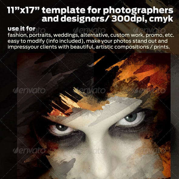 Poster Design Template for Pro Photographers 11x17