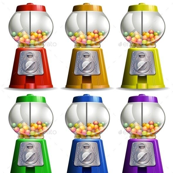 Bubble Gum Machine in Different Colors