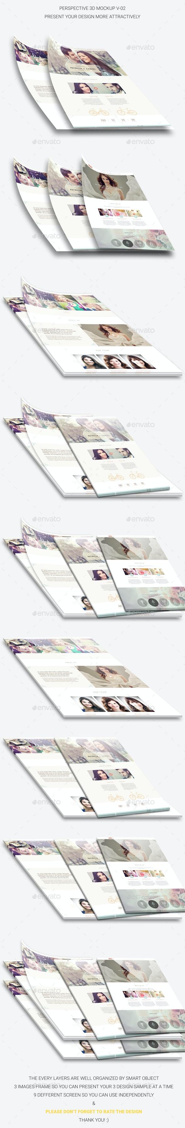 Perspective 3D Web Mockup V.02 - Website Displays