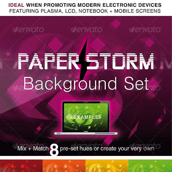 PAPER STORM: ABSTRACT BACKGROUND PACK