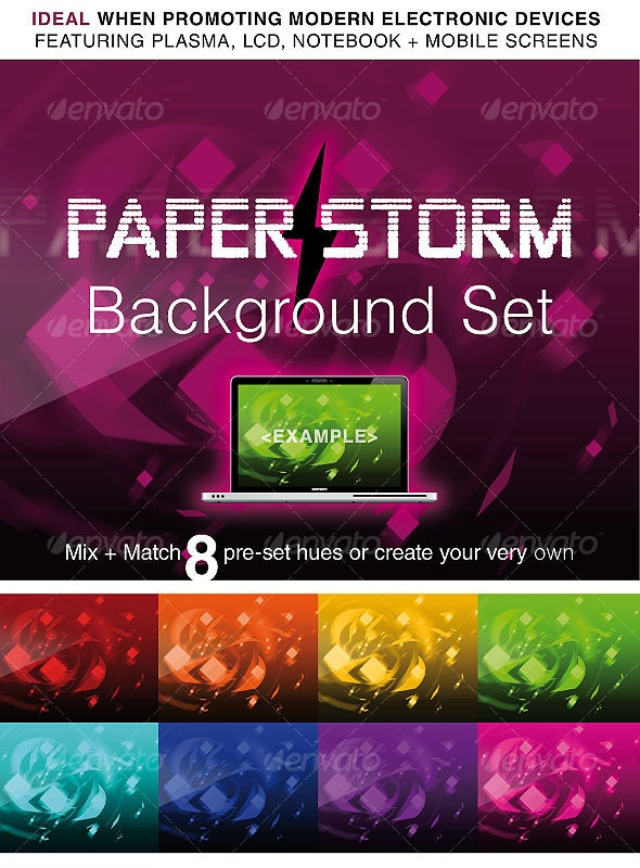 PAPER STORM: ABSTRACT BACKGROUND PACK - Backgrounds Graphics
