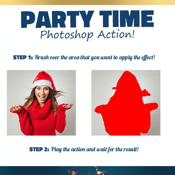 Party Time Photo Effect Photoshop Action