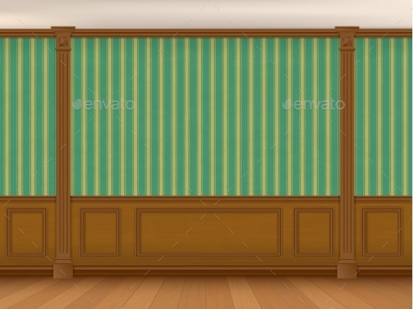 Interior Cabinet In a Classic Style - Backgrounds Decorative