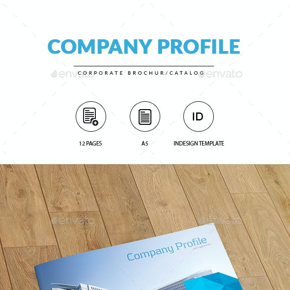 A5 Corporate Brochure/Catalog | Indesign Template