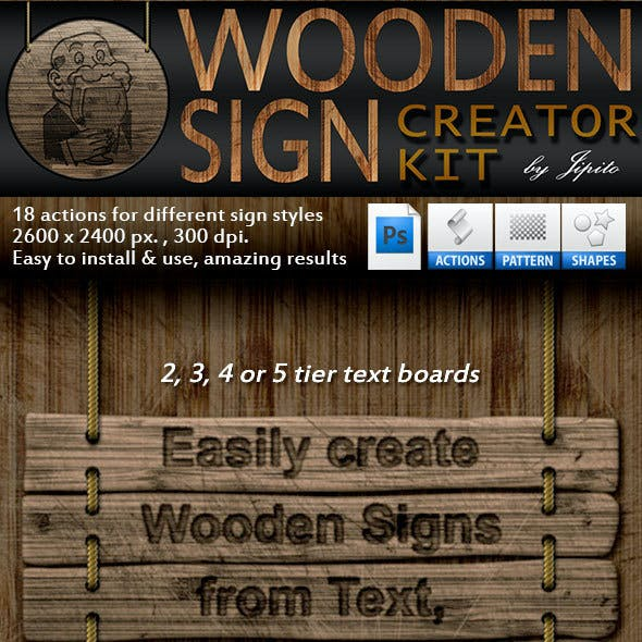 Wooden Sign Creator Kit