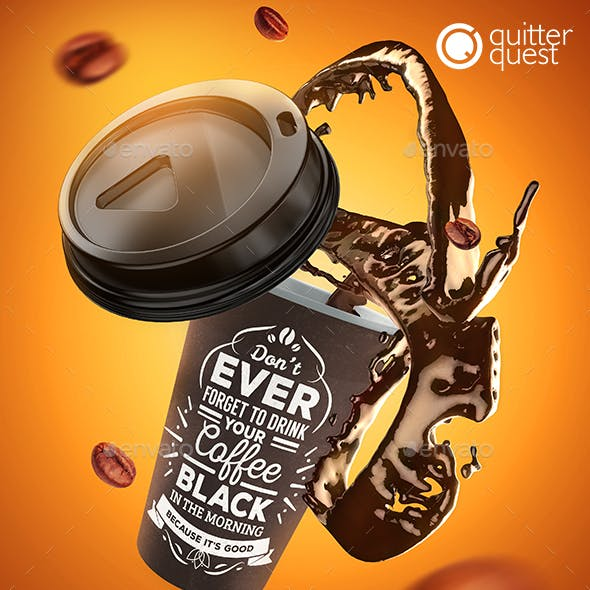 Coffee Splash Mock-Up
