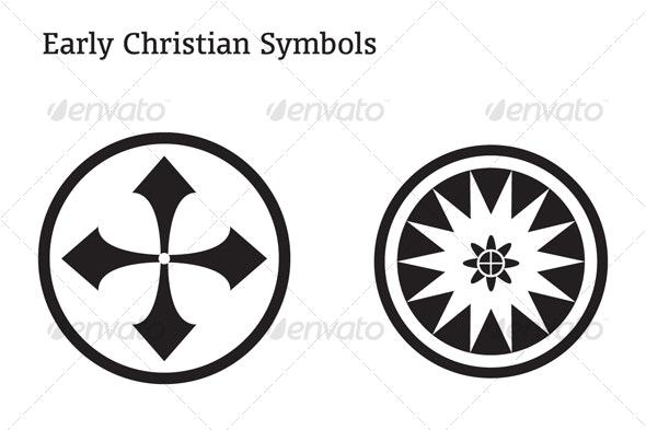 Early Christian Symbols - Decorative Vectors