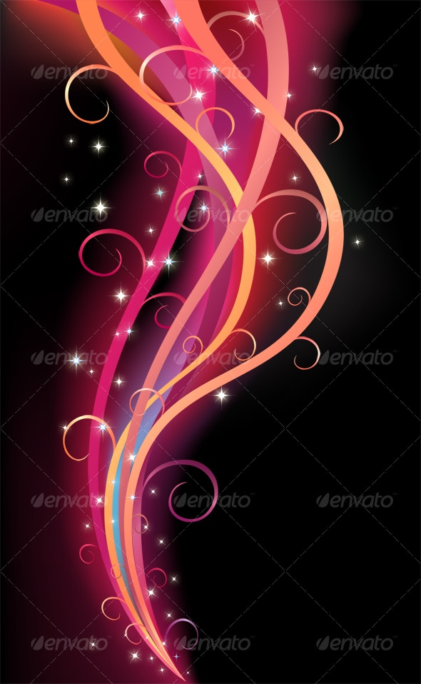 Colorful Swirl Ribbon - Backgrounds Graphics