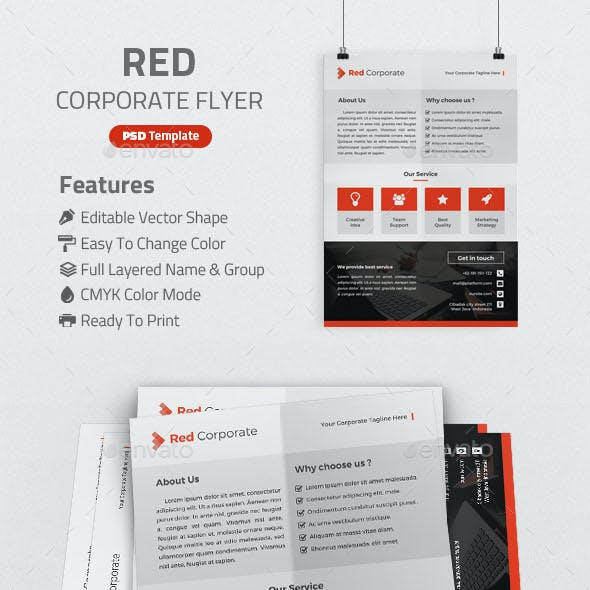 Red Corporate Flyer