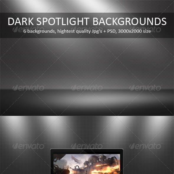 Dark Spotlight Backgrounds