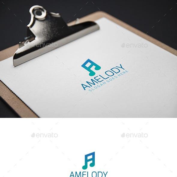 A Music Melody Letter Logo by 3ab2ou