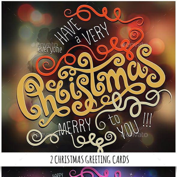 Merry Christmas Hand Lettering Set