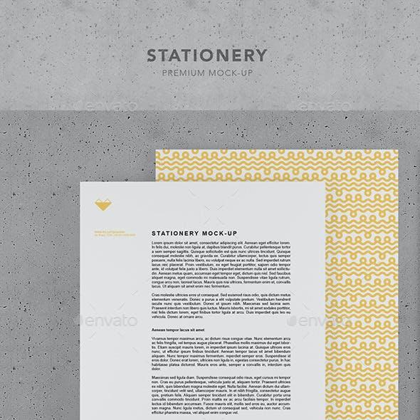 Stationery Premium mock-up
