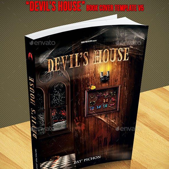 Book Cover Template PSD V5.Devil's House
