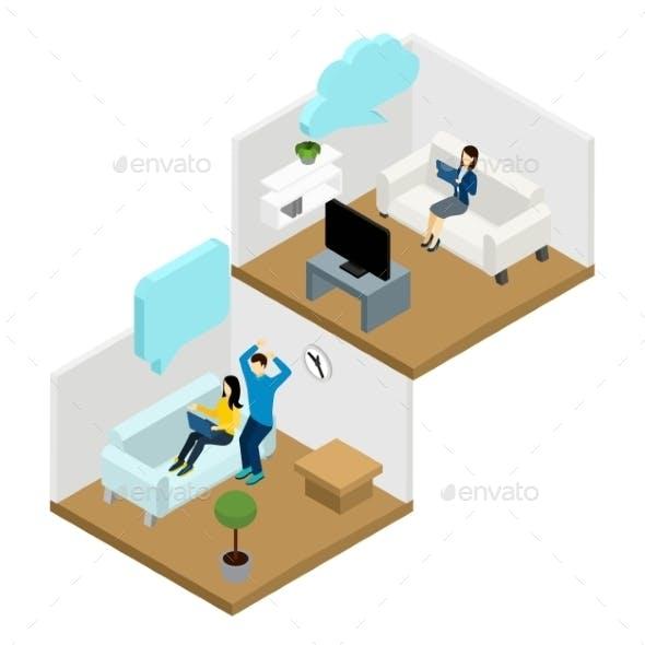 Friends Communication Illustration