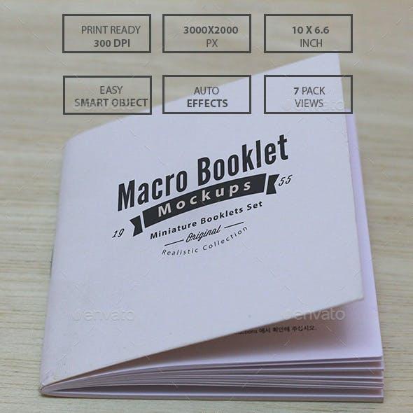 Macro Booklet Mockups