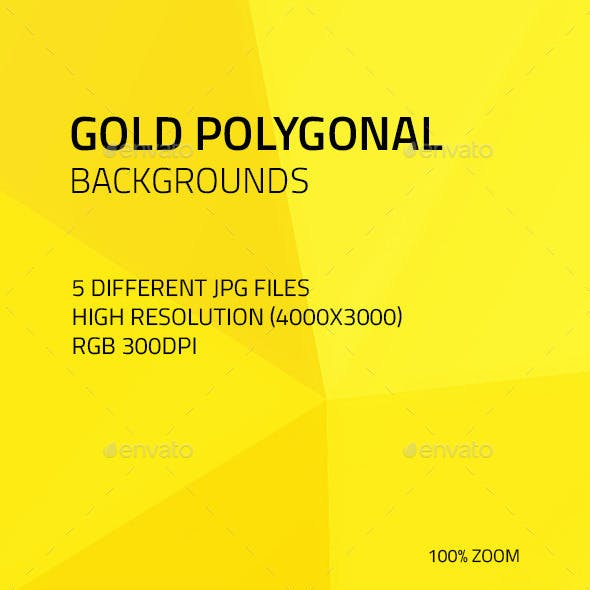 Gold Polygonal Backgrounds