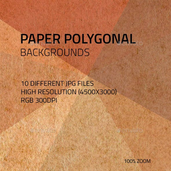 Paper Polygonal Backgrounds