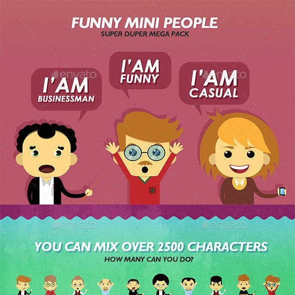 Characters Design Vector Pack