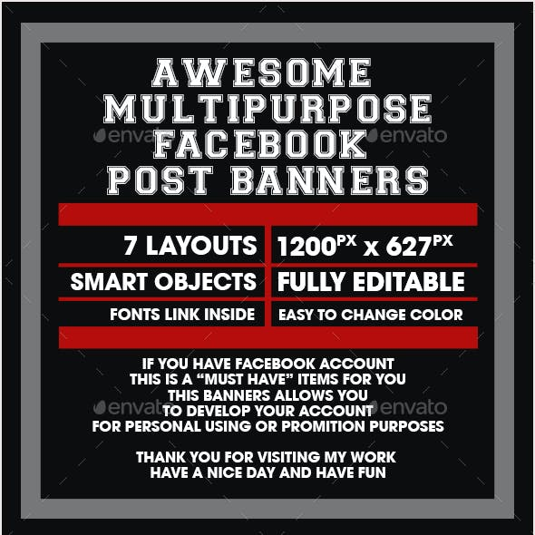 7 Multipurpose Facebook Post Banners