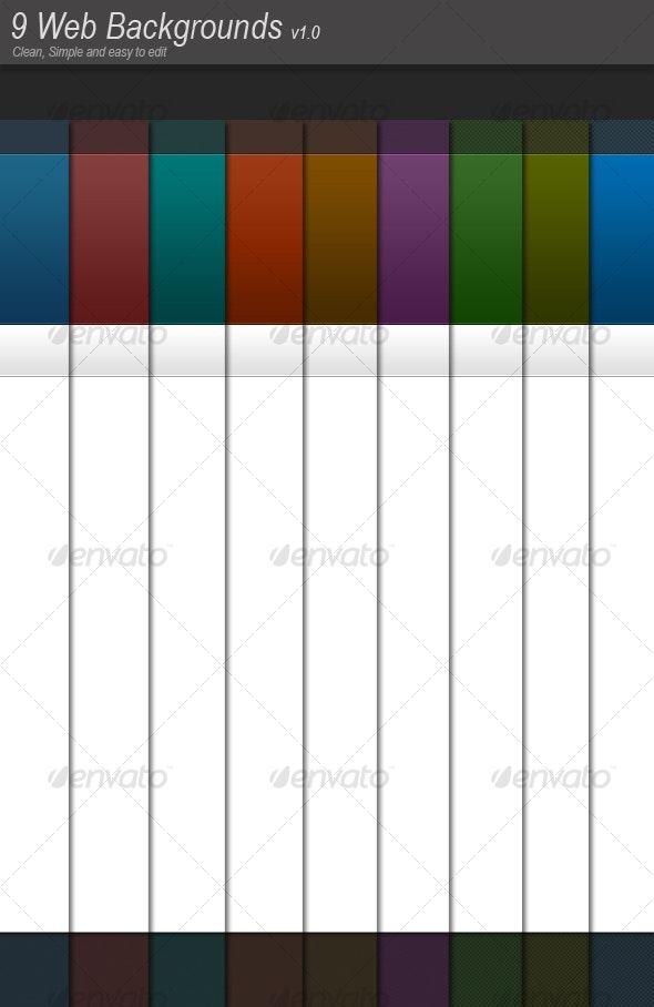 9 Web Backgrounds v1.0 - Backgrounds Graphics