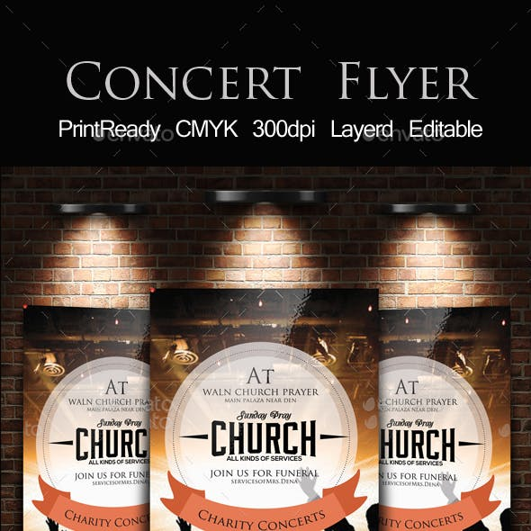 Charity Concert Flyer Template