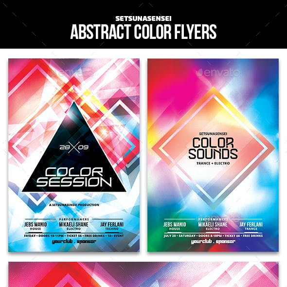 Abstract Color Flyers