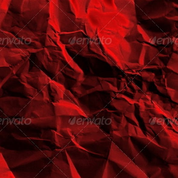 Red rumpled paper