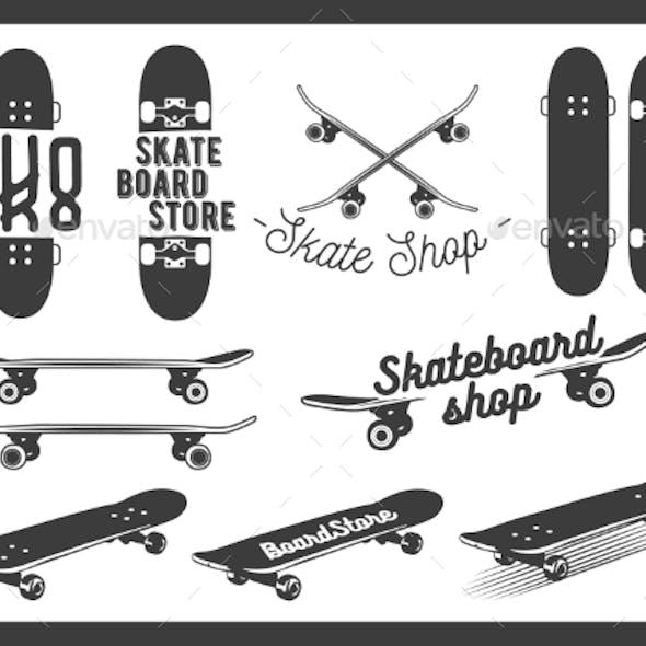 Set Of Skateboard Emblems