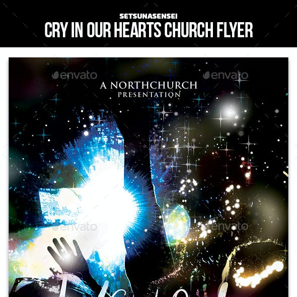 Cry In Our Hearts Church Flyer