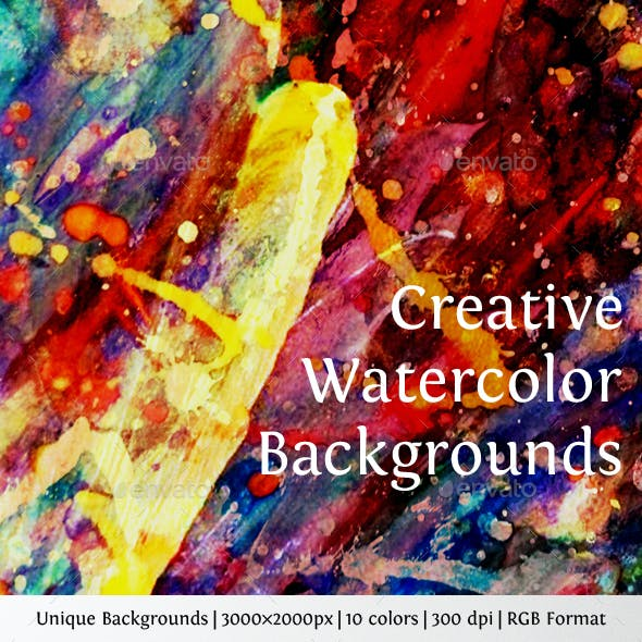 Creative Watercolor Backgrounds